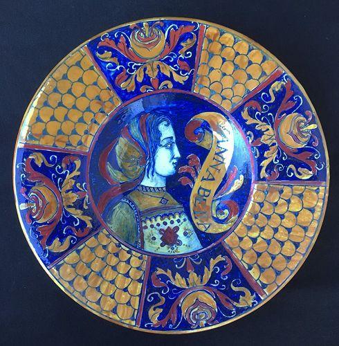 Neo-Renaissance / �Istoriato� charger by Alfredo Santarelli, Deruta