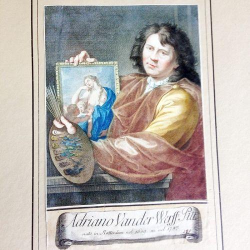 Adriaen van der Werff, self portrait from Raccolta di 324 Ritratti�