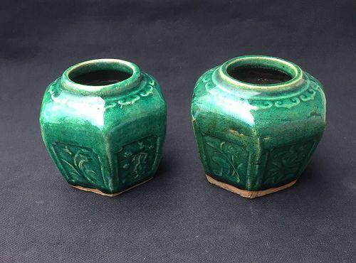Shekwan /Shiwan green jars