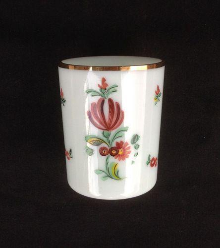 Bohemian Milchglas / milk glass beaker, museum replica