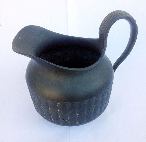 Black basalt milk jug, Georgian