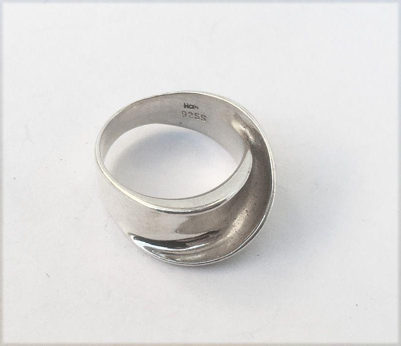 Hans Hansen, Denmark, sterling silver folded ring