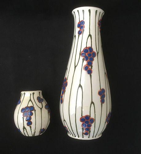Czech Dux Vases, c 1930
