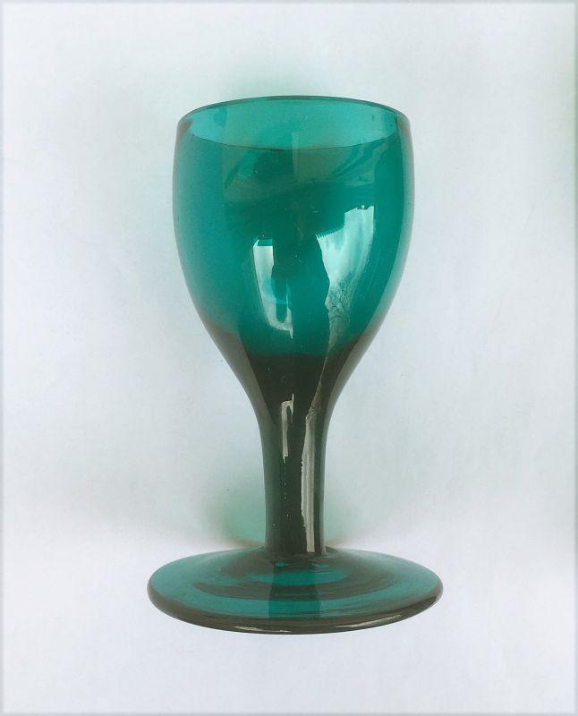 A Bristol Green rummer and wine glass, Georgian