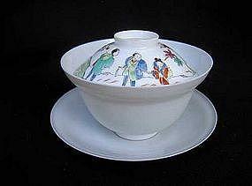Arita eggshell porcelain ensemble, Edo