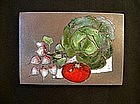 1950's plaque / tile from Vallauris, by Louis Giraud