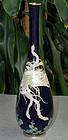 Rare Japanese Cloisonne Enamel Vase with Phoenix