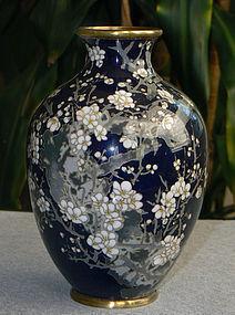 Japanese Cloisonne Vase- Goto