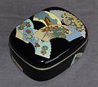 Outstanding Rare Japanese Cloisonne Enamel Box - Likely Kumeno