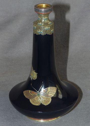 Fabalous Japanese Cloisonne Enamel Vase  -  Krikorian Collection