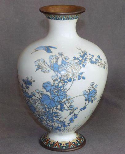 Japanese Cloisonne Enamel Vase - Early Namikawa Sosuke