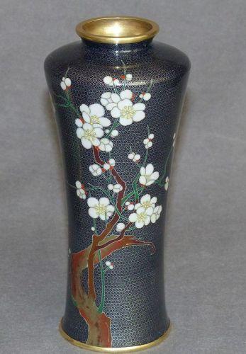 Unusual Japanese Cloisonne Enamel Vase of Fine Quality- unsigned
