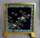 Very Rare Japanese Cloisonne Enamel 2 sided Plaque Signed S Inaba