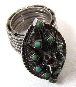 Unusual Antique Ring, Unfolds into Bracelet