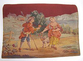 French Silk-Stitched Purse, Shepherd, Shepherdess