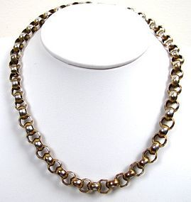 Antique Silver Chain, Yellow and Rose Gold Plated