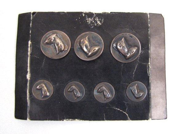 Vintage Blazer Buttons, Quail Heads, JW Bishop