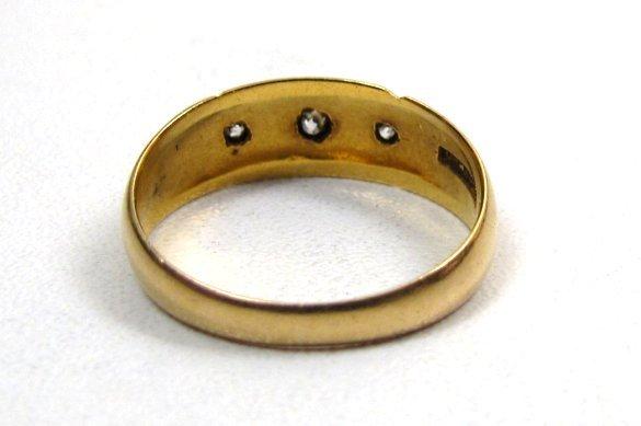 Beautiful 18K Victorian Gypsy Ring, Diamonds