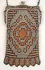 Super Beadlite Enamel Mesh Purse, ca 1920's
