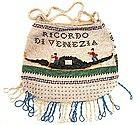 Rare 19th C Beaded Purse, Venice, Gondola!