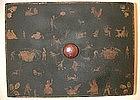 19th C Decoupage Wood Box, American