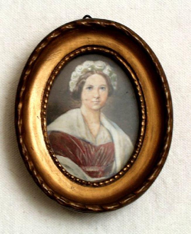 Portrait Miniature of Lady Circa 1850