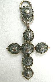 Superb 18th C Diamond and Silver Cross