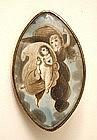 Poignant Georgian Mourning Miniature, Angel and Child