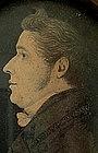 Pair of Portrait Miniature Profiles by J H Gillespie