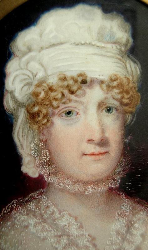 Portrait Miniature of Woman in Turban, c 1840