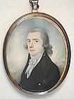 Portrait Miniature of Gent, Signed Lasal