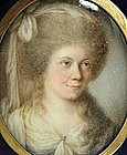 Portrait Miniature of Lady by John Bogle