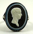 Wedgwood and Bentley Jasper Cameo Ring, ca 1779
