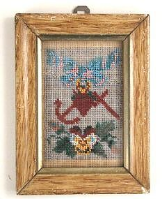 Framed Victorian Beadwork Picture