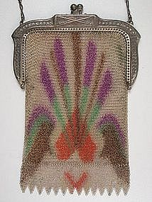 Charming Whiting and Davis Dresden Mesh Purse