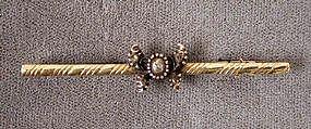 Darling 19th C Diamond & 14K Butterfly Brooch