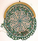 Microbeaded Miniature Pie Crust Coin Purse, 19th C