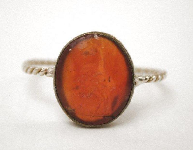 Carnelian & Gold Intaglio Ring, Gryllos