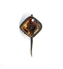 Rare 17th C Stuart Crystal Stick Pin