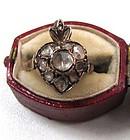 Gorgeous Georgian Rose Cut Diamond Ring, Flaming Heart