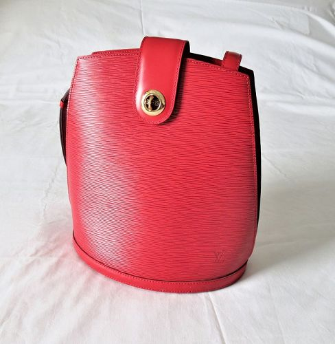 Louis Vuitton Cluny Epi shoulder bag leather Castilian Red Bucket Tote