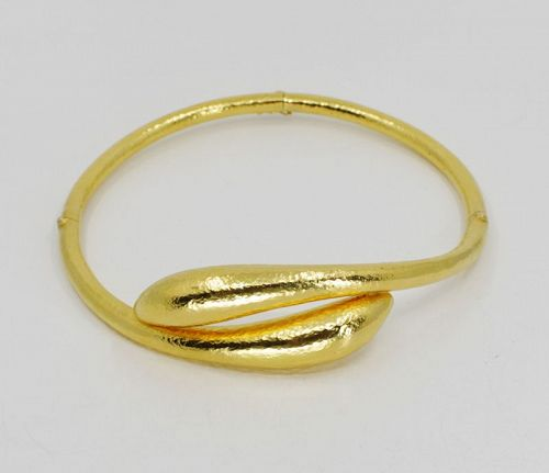 Ilias Lalaounis snake choker necklace in 18k yellow gold