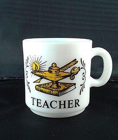 Milk glass Teacher Mug