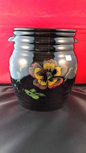 L.E.Smith #3 black cookie jar