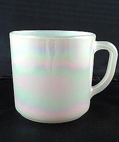 Federal White Iridescent 9 1/2 oz Mug