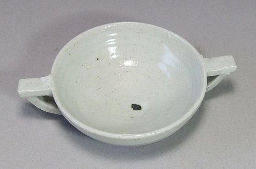 Extr. Rare/Fine White Glaze Two Ear (Loop) (兩��) Cup-16th C.: