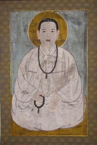 Very Unusual  Buddhist Female Monk/Goddess? (��/���) Portrait