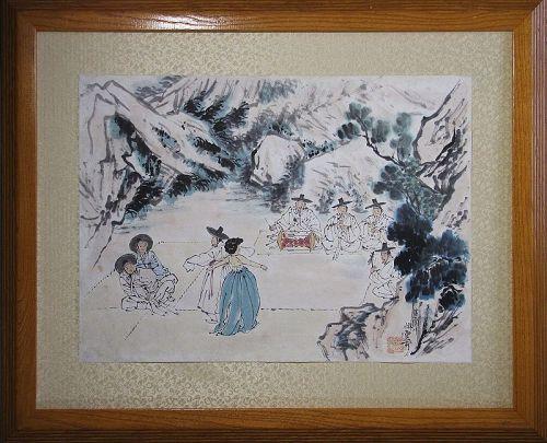 Unbo, Kim Ki Chang - ��-��� (1931-2001): Korean Genre Painting