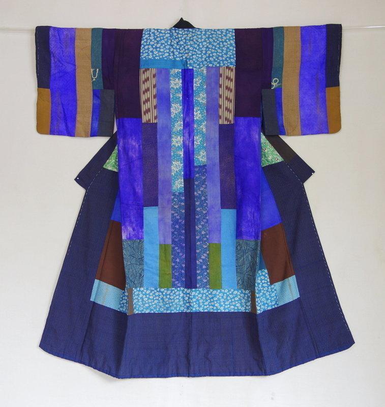 Japanese Antique Textile Silk Hagi-isho Juban Under Kimono