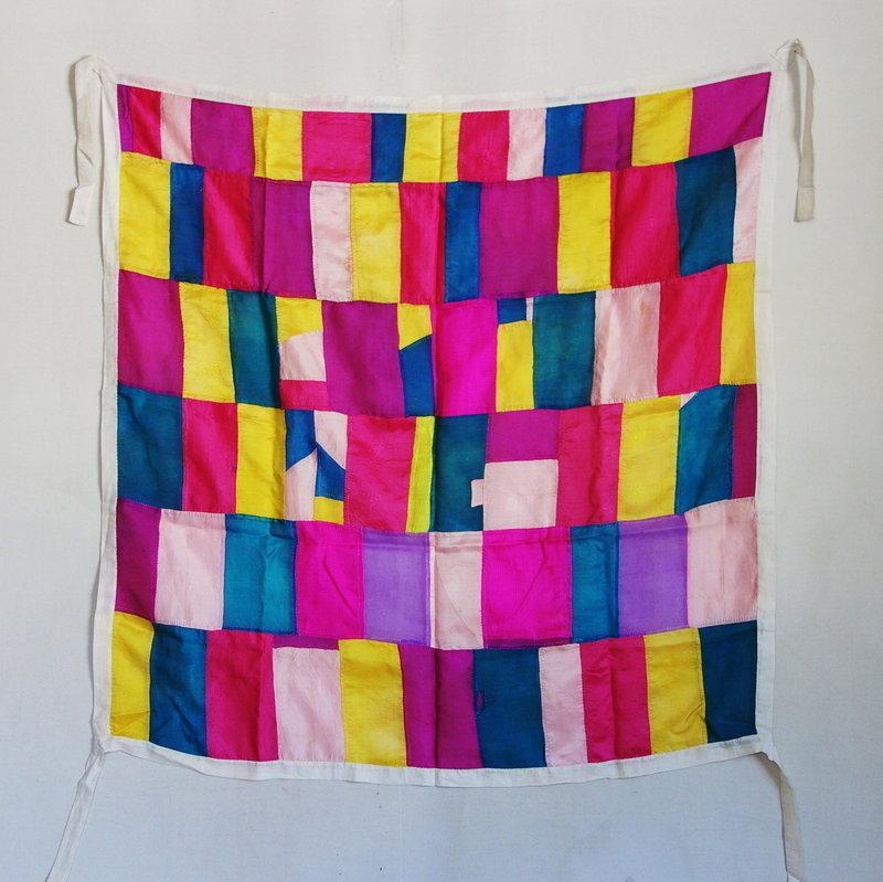 Korean Antique Textile Silk Pojagi Chogappo Colorful Fragments